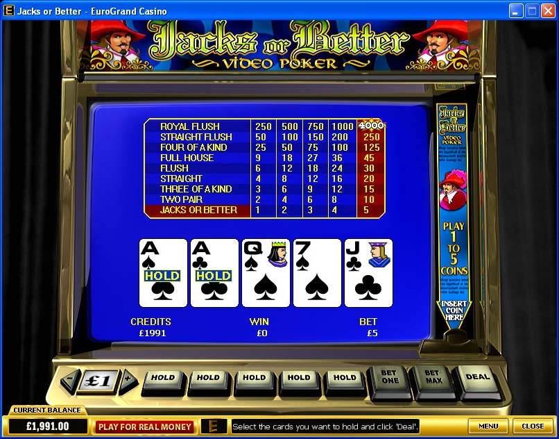 free online slots video poker
